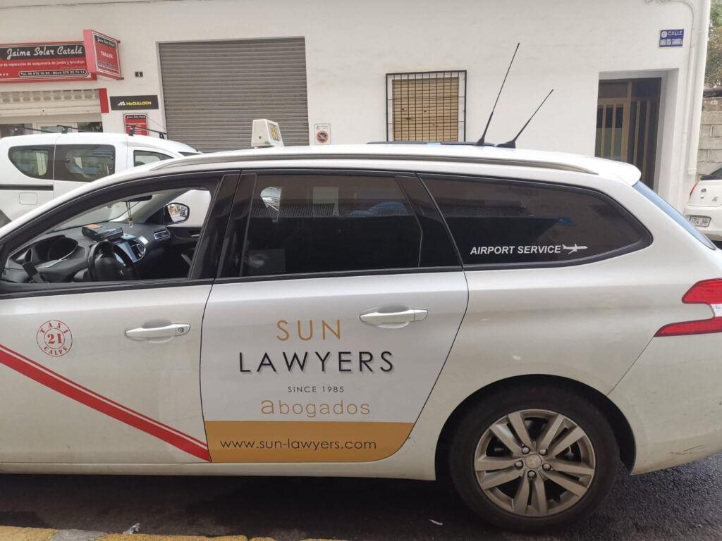 Sun Lawyers taxi in Javea